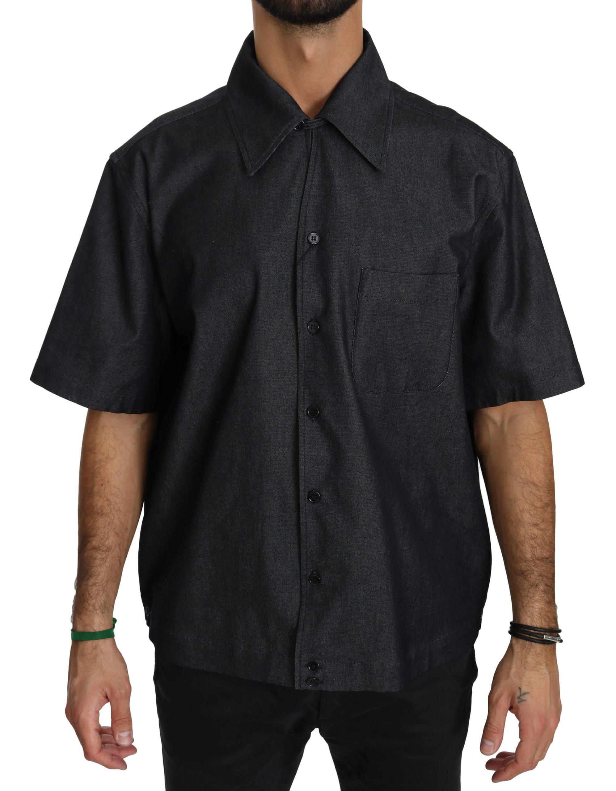 Dolce & Gabbana Men's SS Cotton Shirt Black TSH4026 - IT40 | M