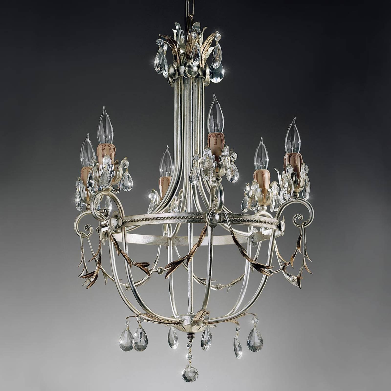 Firenzeläistyylinen kattokruunu Mecca 6-lamppuinen