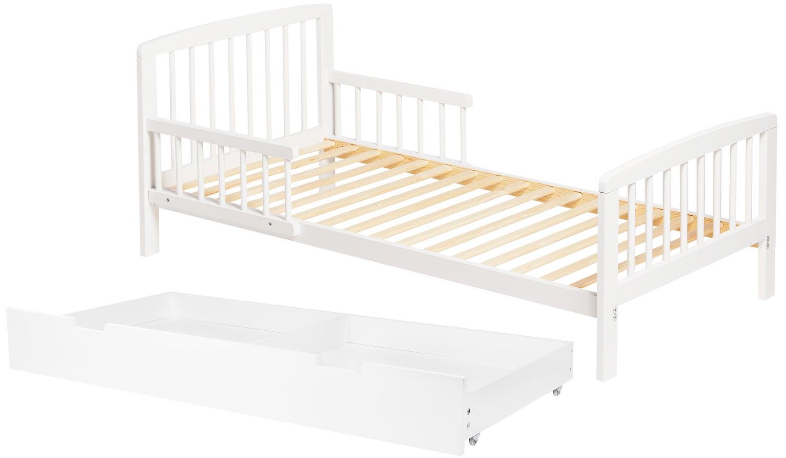 JLY Heaven Juniorisänky + Sängynaluslaatikko, Valkoinen