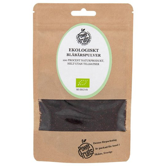 Powerfruits Ekologiskt Blåbärspulver, 50 g