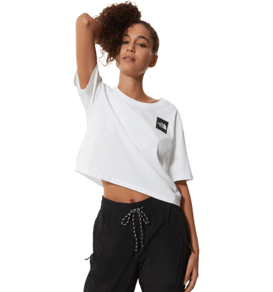 The North Face W Cropped Fine Tee T-shirts WHITE