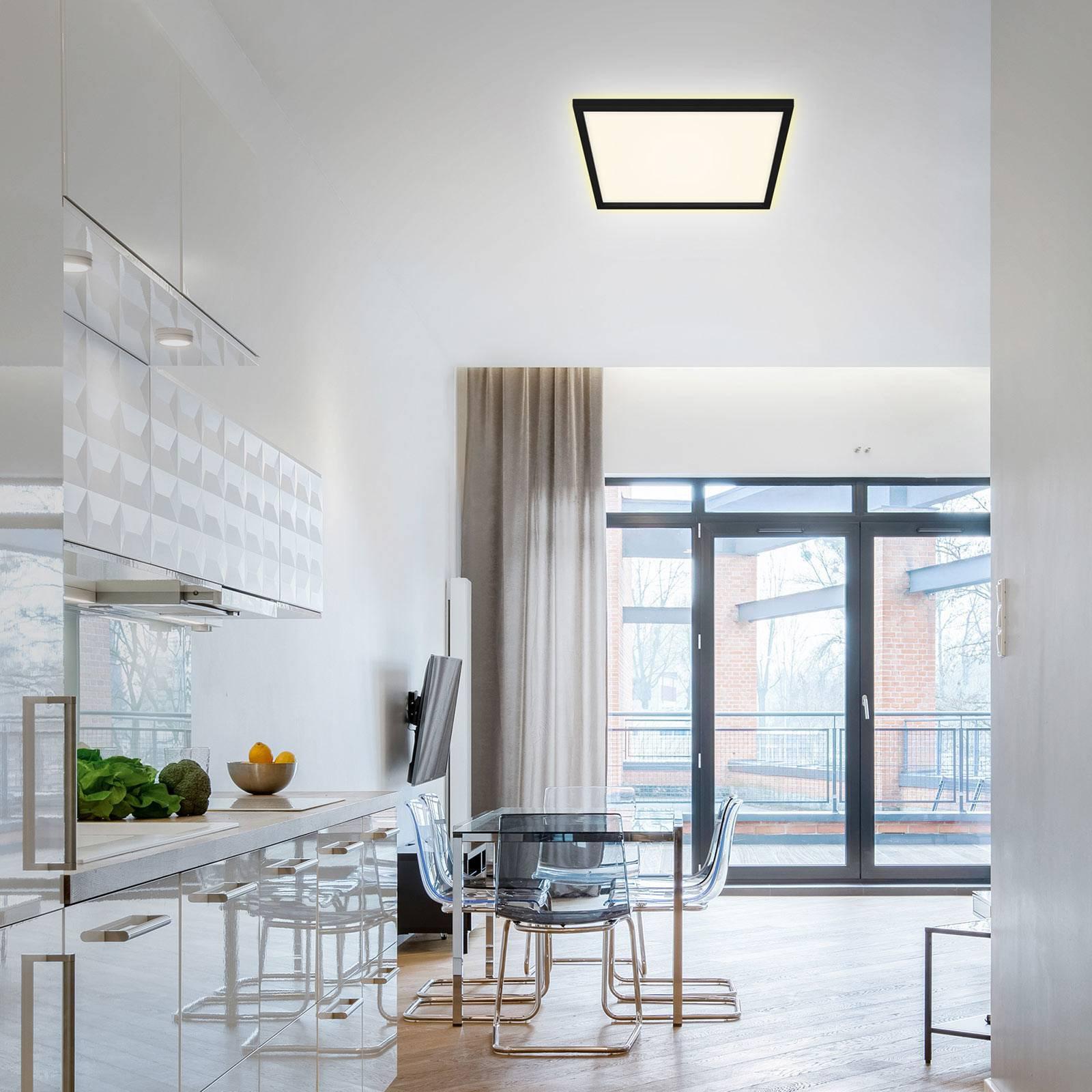 LED-taklampe 7364 42 x 42 cm, svart