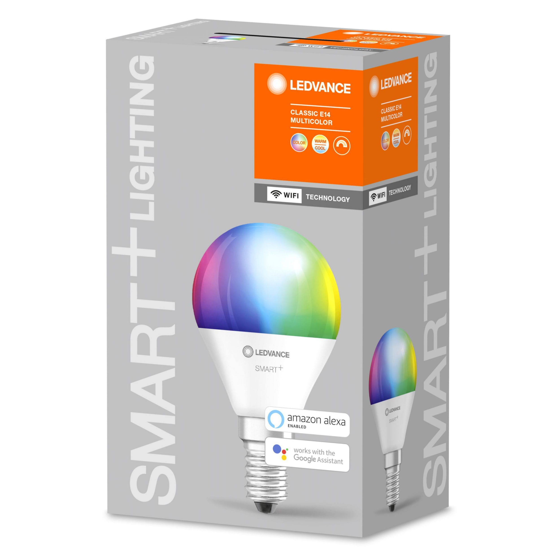 LEDVANCE - SMART+ mini-ball 40W/RGBW frosted E14 WiFi