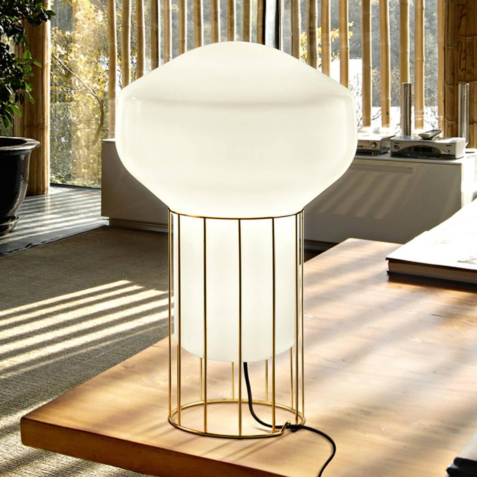 Fabbian Aérostat - bordlampe av messing, 33 cm