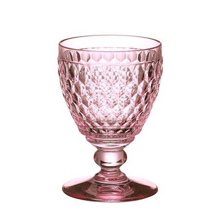 Boston Coloured Rødvin Goblet Rose