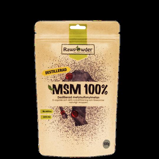 MSM 100%, Destillerad Metylsulfonymetan, 500 g