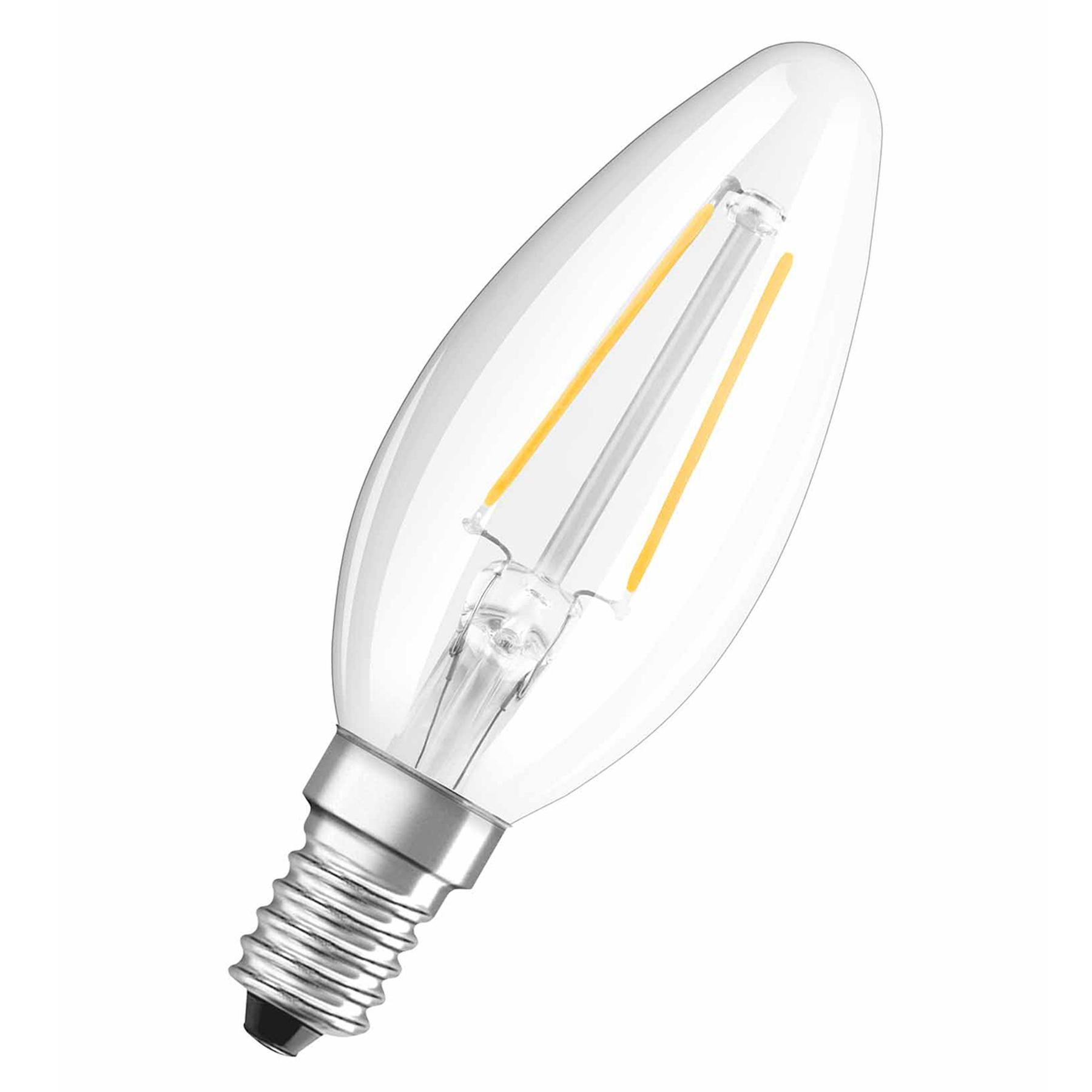 OSRAM-LED-kynttilälamppu E14 1,5W 827 Retrofit