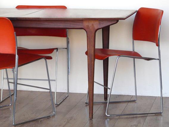 Red Retro Chairs Red Medium