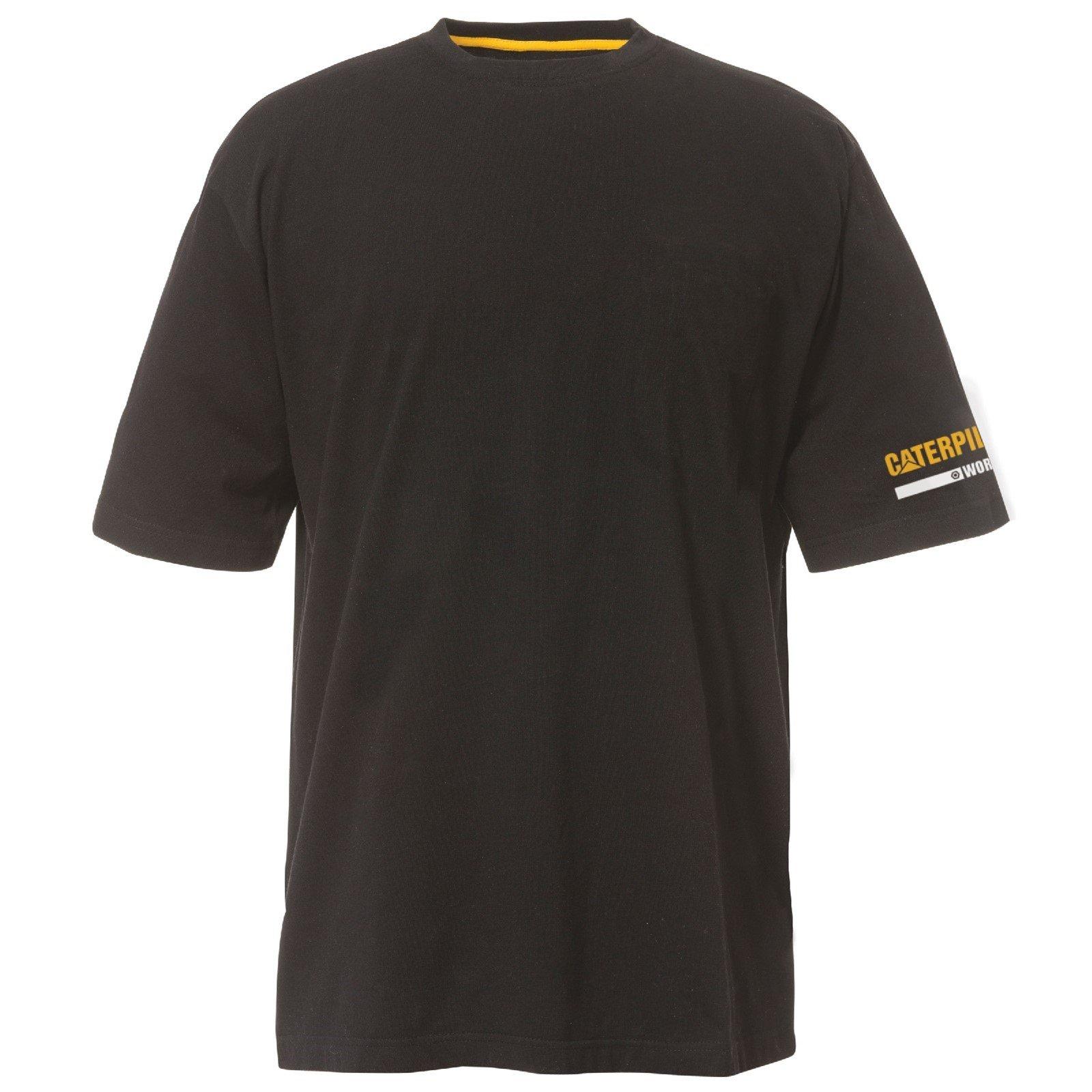 Caterpillar Men's Essentials SS T-Shirt Various Colours 28885-48760 - Black Sml