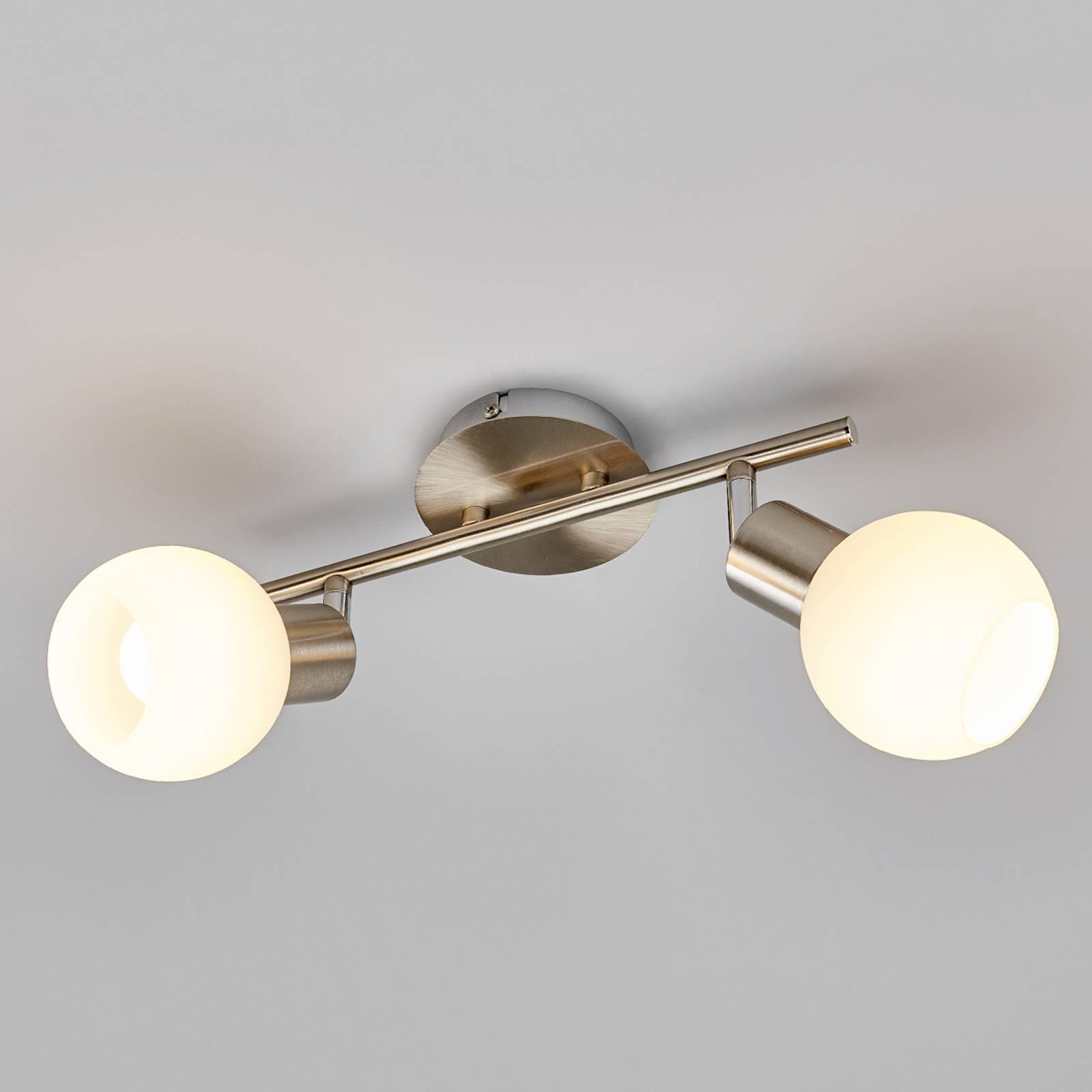 2-lamp. Elaina LED-kattovalaisin, matta nikkeli