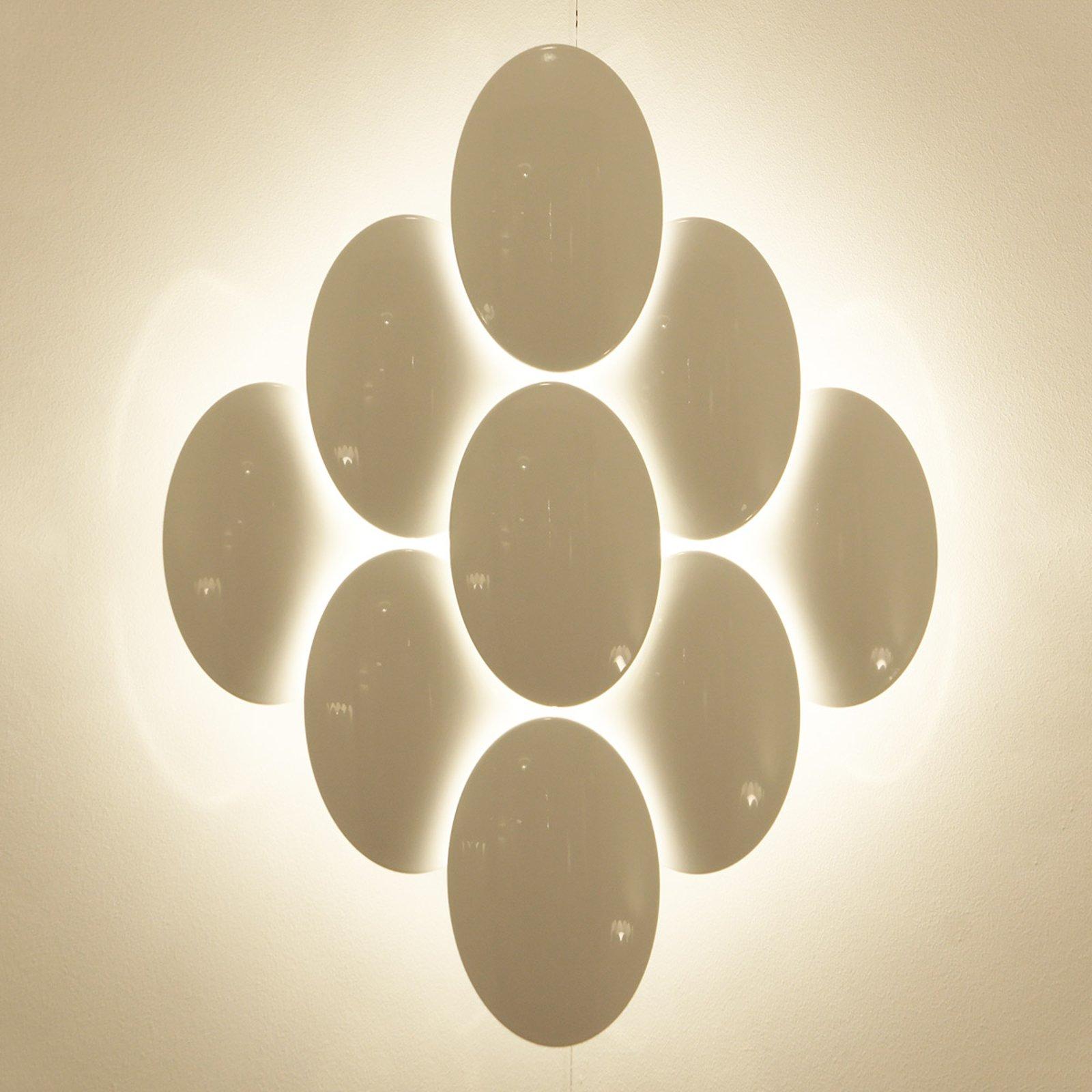 Milan Obolo – LED-vegglampe dimbar – 8 lyskilder