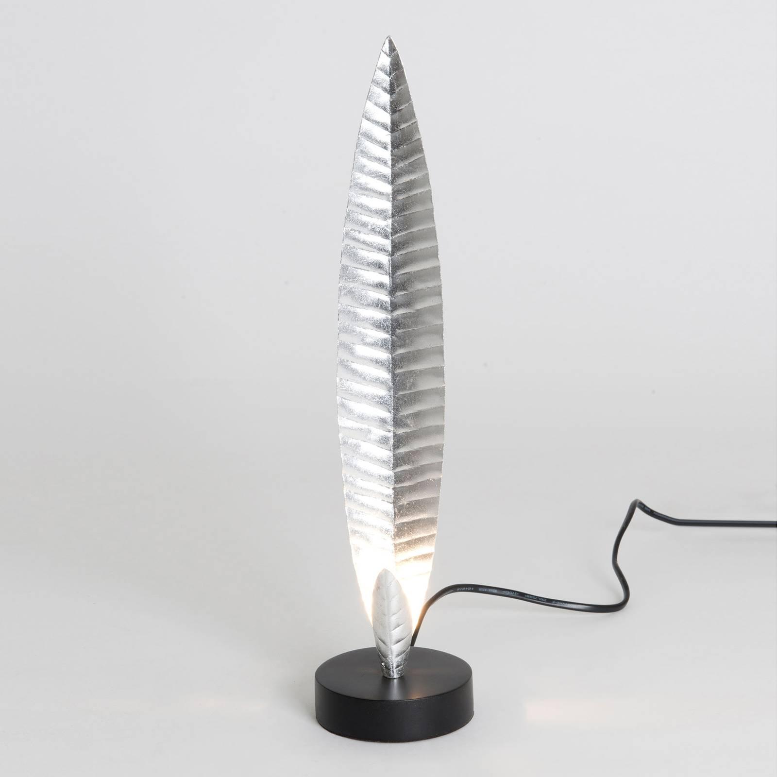 Pöytävalaisin Penna, hopea, korkeus 38 cm