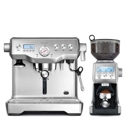 Sage The Dynamic Duo Espressomaskin - Silver