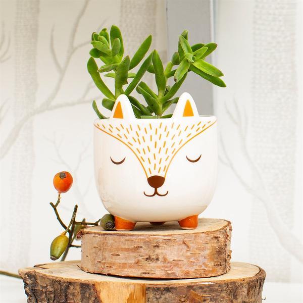 Mini Woodland Fox Planter