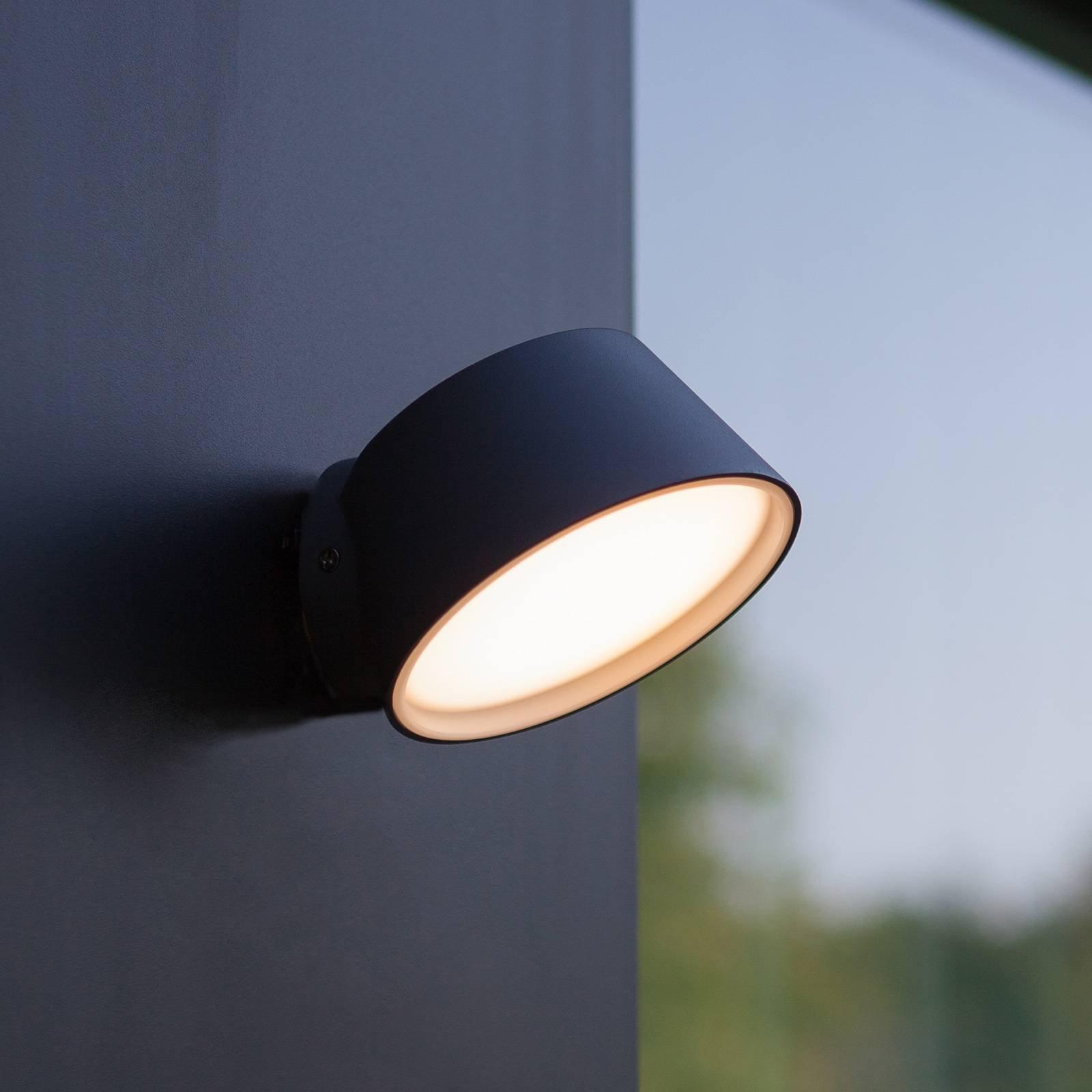 Utendørs LED-vegglampe Dakota med Tuya-teknologi