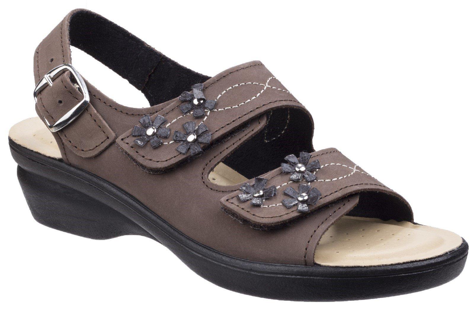 Fleet & Foster Women's Amaretto Touch Fastening Sandal Various Colours 26298 - Brown 8