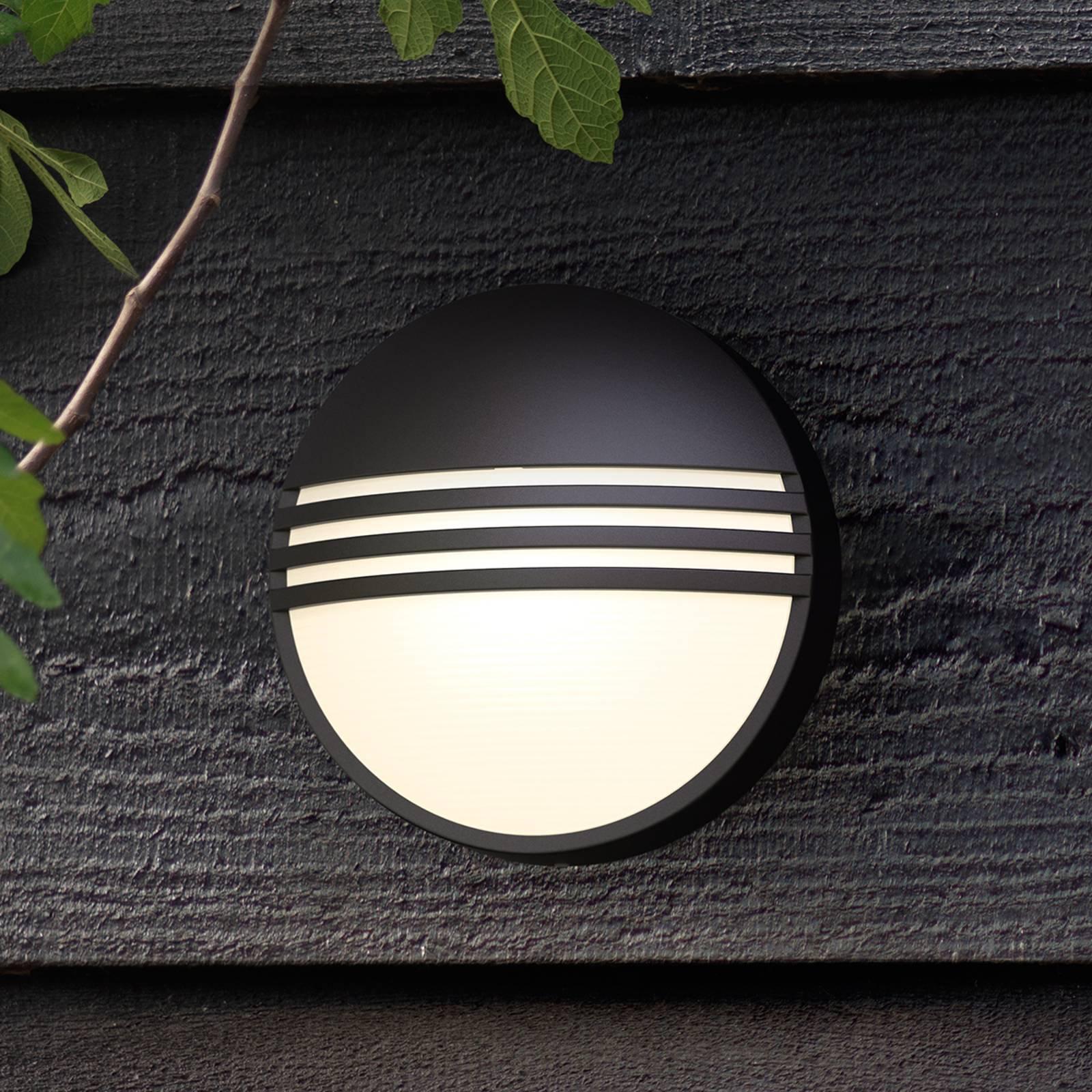 Philips Yarrow svart LED-utevegglys