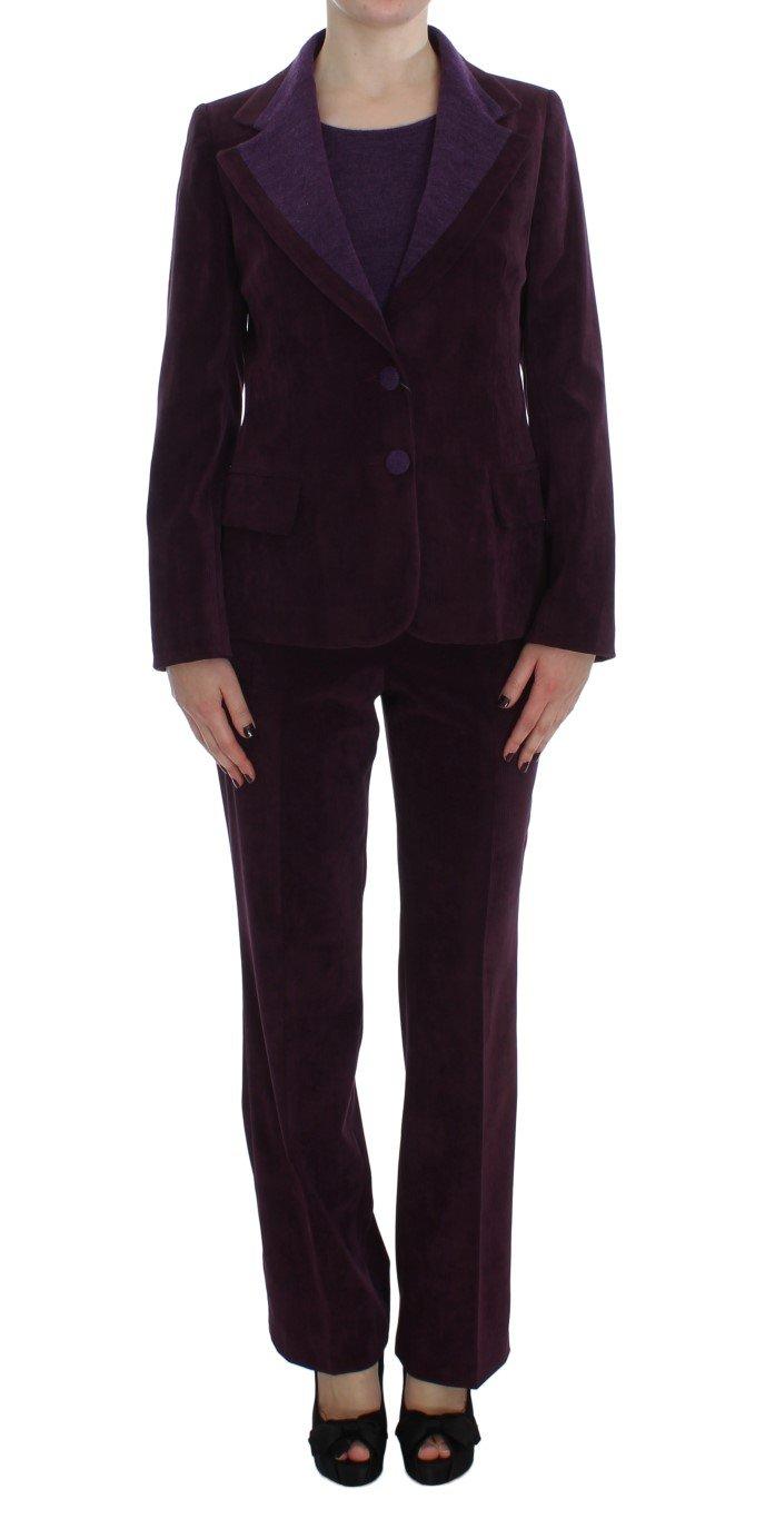BENCIVENGA Women's Wool Suit T-Shirt Set Purple SIG30893 - M