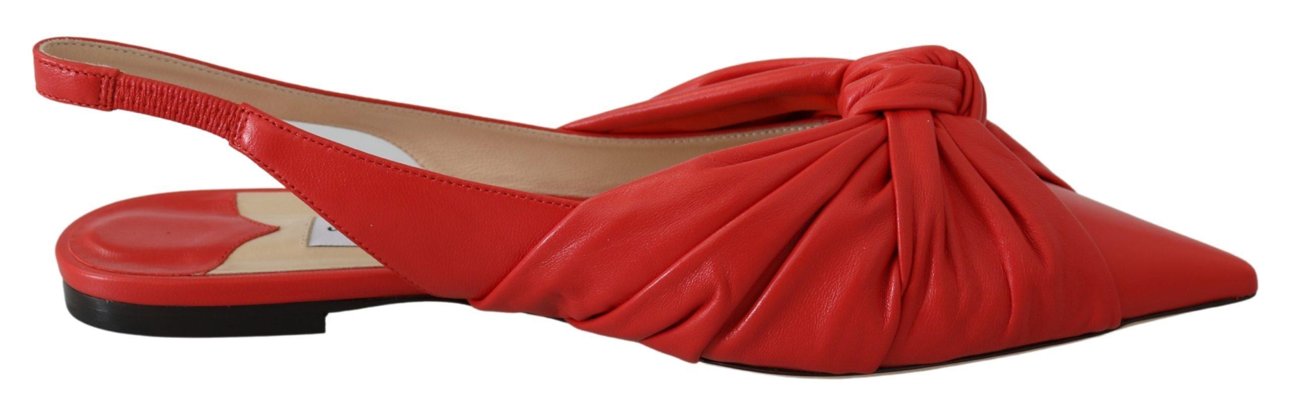 Jimmy Choo Women's Annabell Flat Shoes Red 191714981690 - EU36.5/US6.5