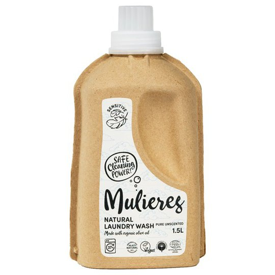 Mulieres Naturligt Tvättmedel Pure Unscented, 1,5 L