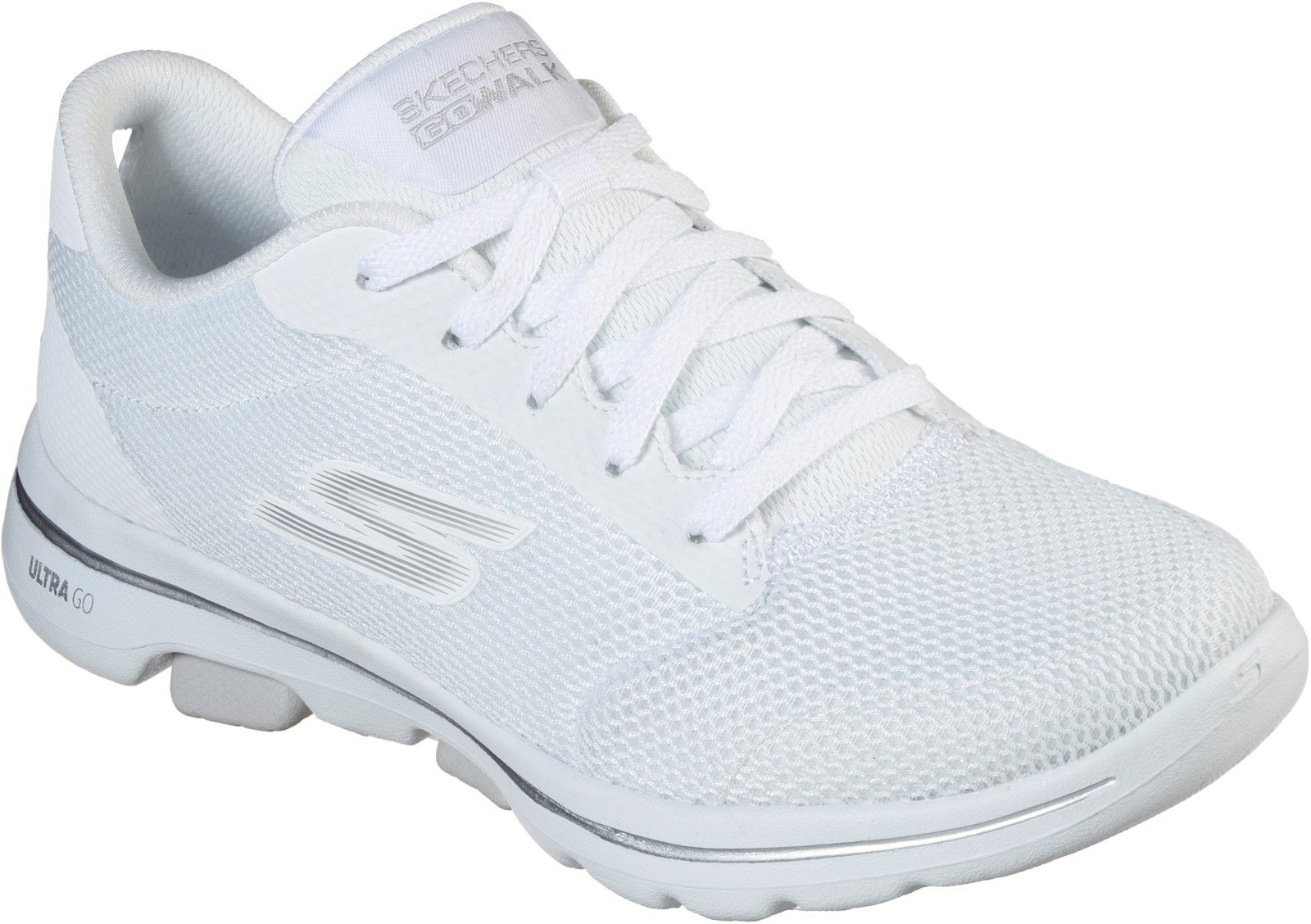 Skechers Women's Gowalk 5 Lucky Sports Trainer Various Colours 31033 - White 3