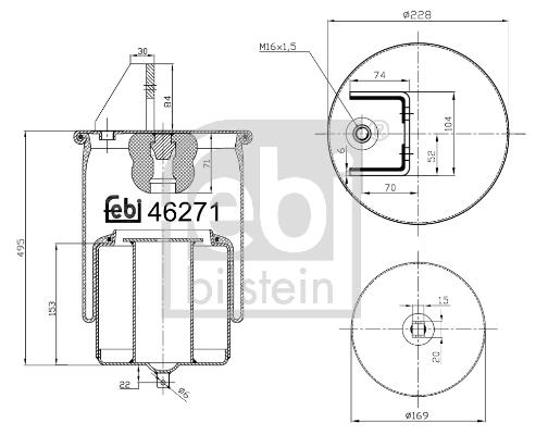 Metallipalje, ilmajousitus FEBI BILSTEIN 46271