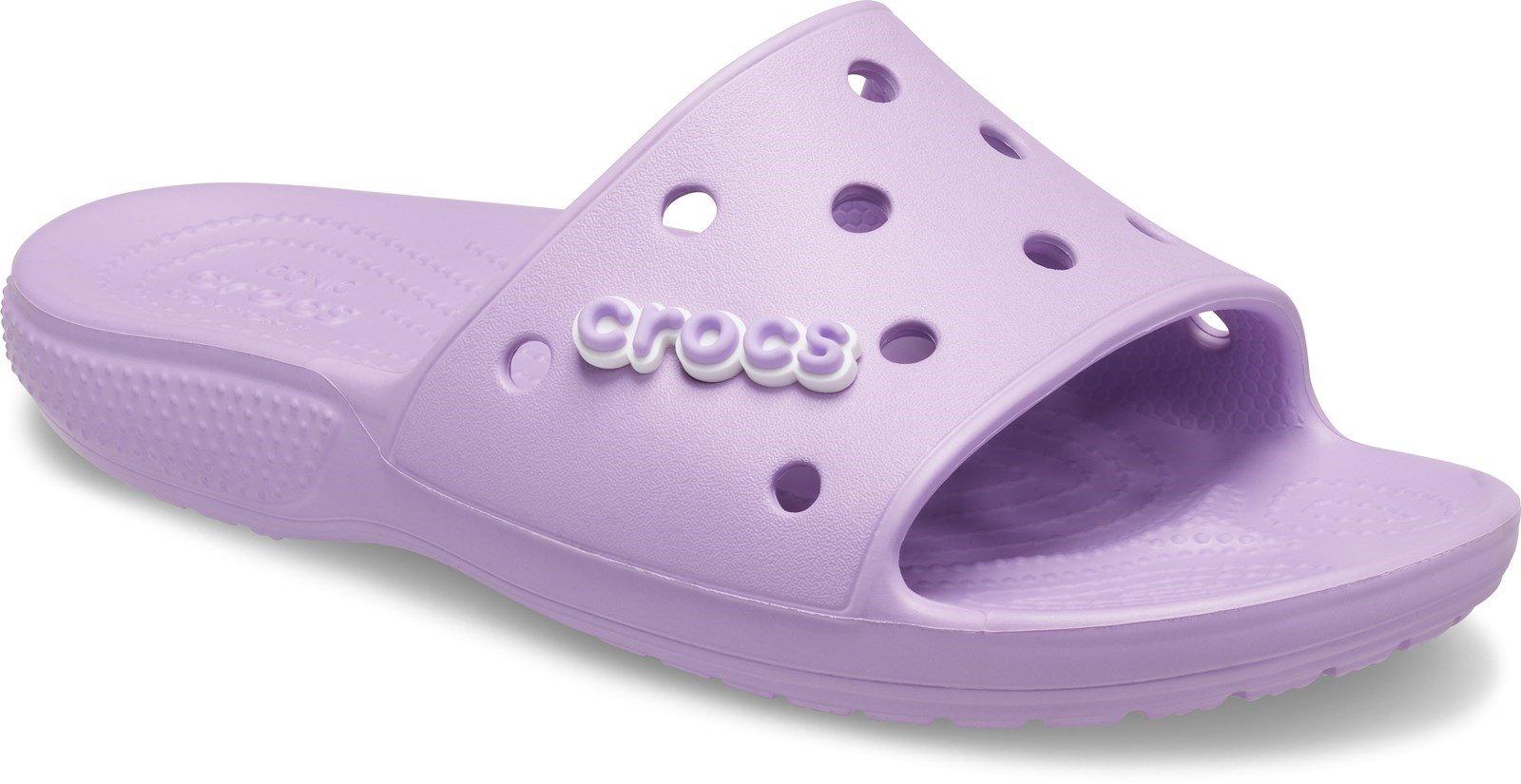 Crocs Unisex Classic Crocs Slide Sandal Various Colours 30608 - Orchid 5