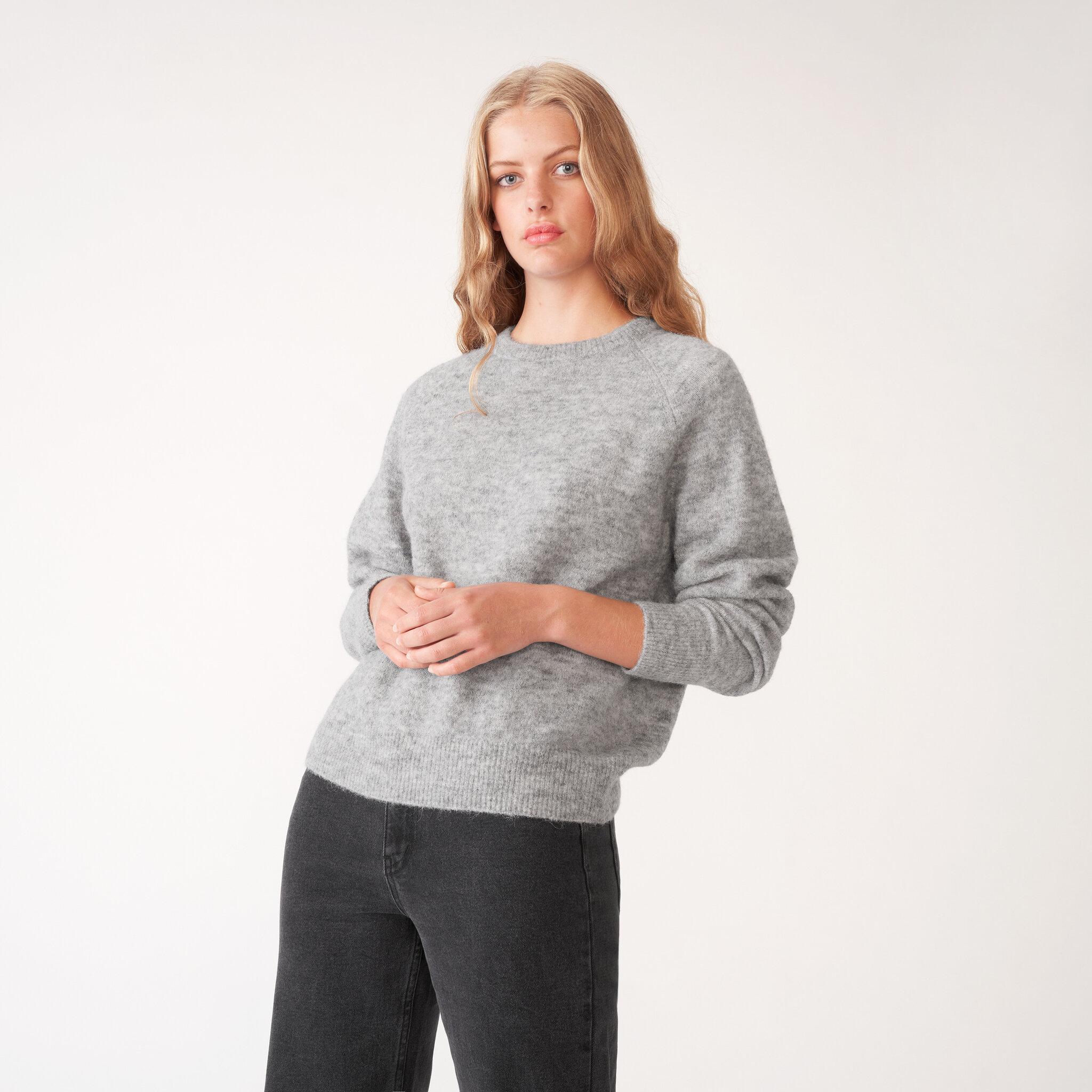 Stickad tröja i ullblandning TERJA
