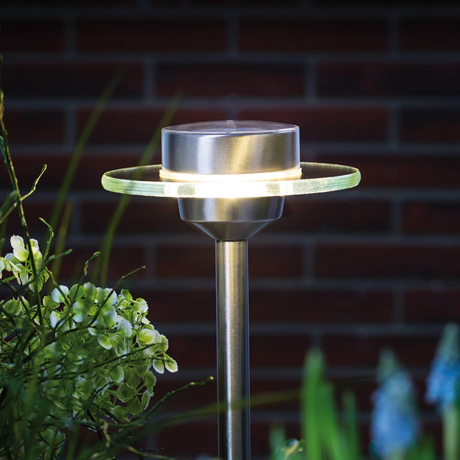 Aurinkokennovalaisin Ufo LED IP44 ruostumaton