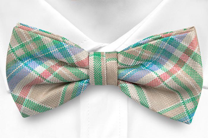 Silke Sløyfer Knyttede, Beige, grønn, hvit, rød, blå Madras pledd