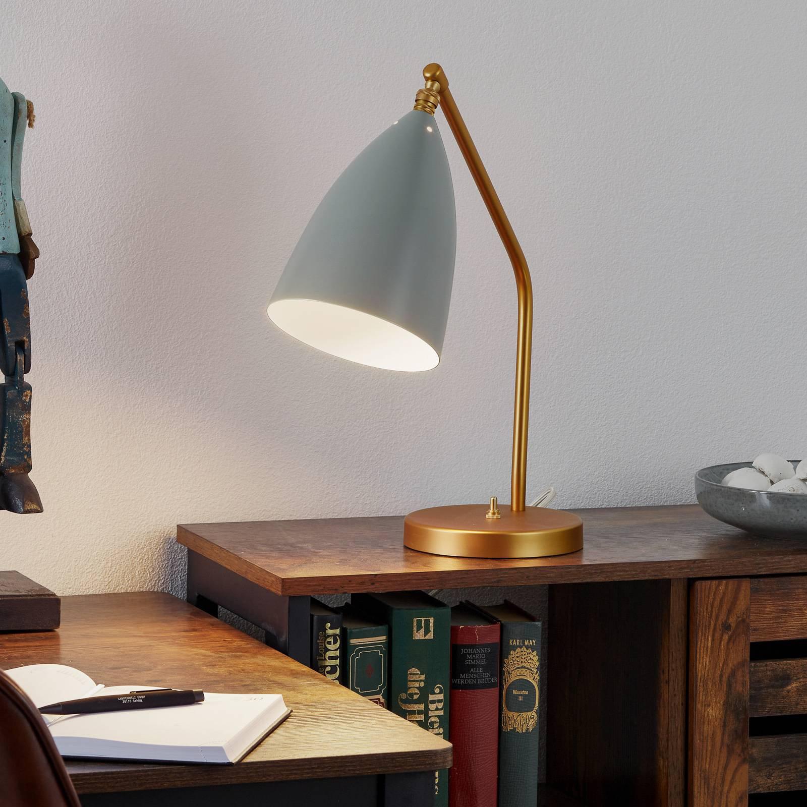 GUBI Gräshoppa bordlampe, blågrå