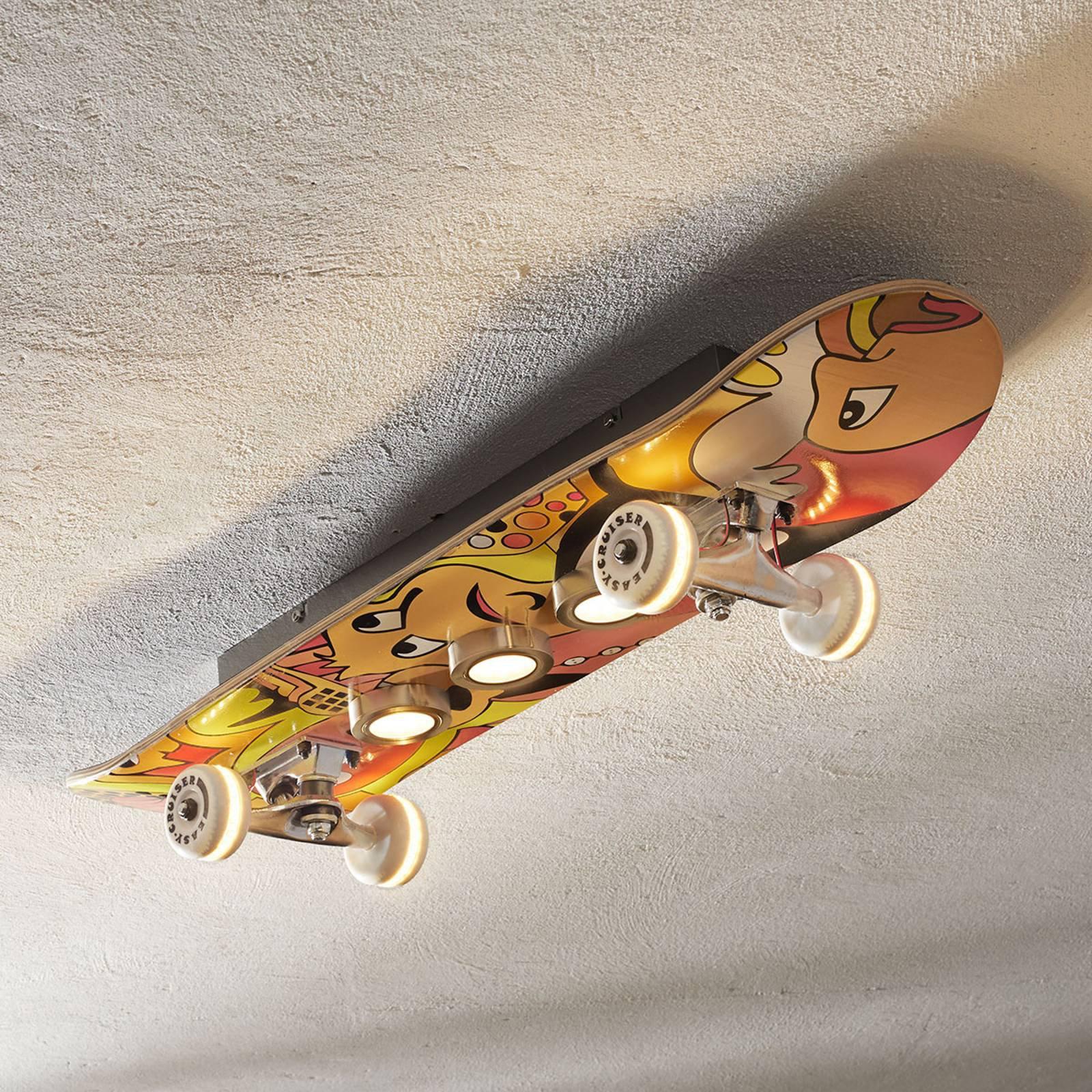 Taklampe LED Easy Cruiser i skateboardutførelse