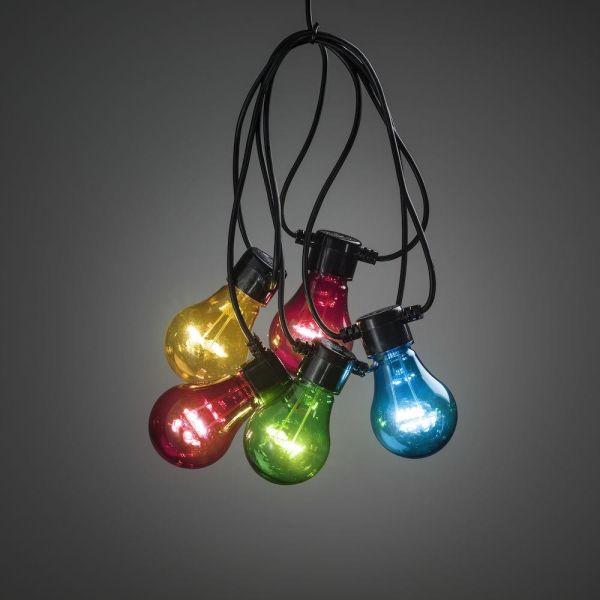 Konstsmide 2396-500 Lysslynge 10 stk. lamper, 9,15 m Flerfarget