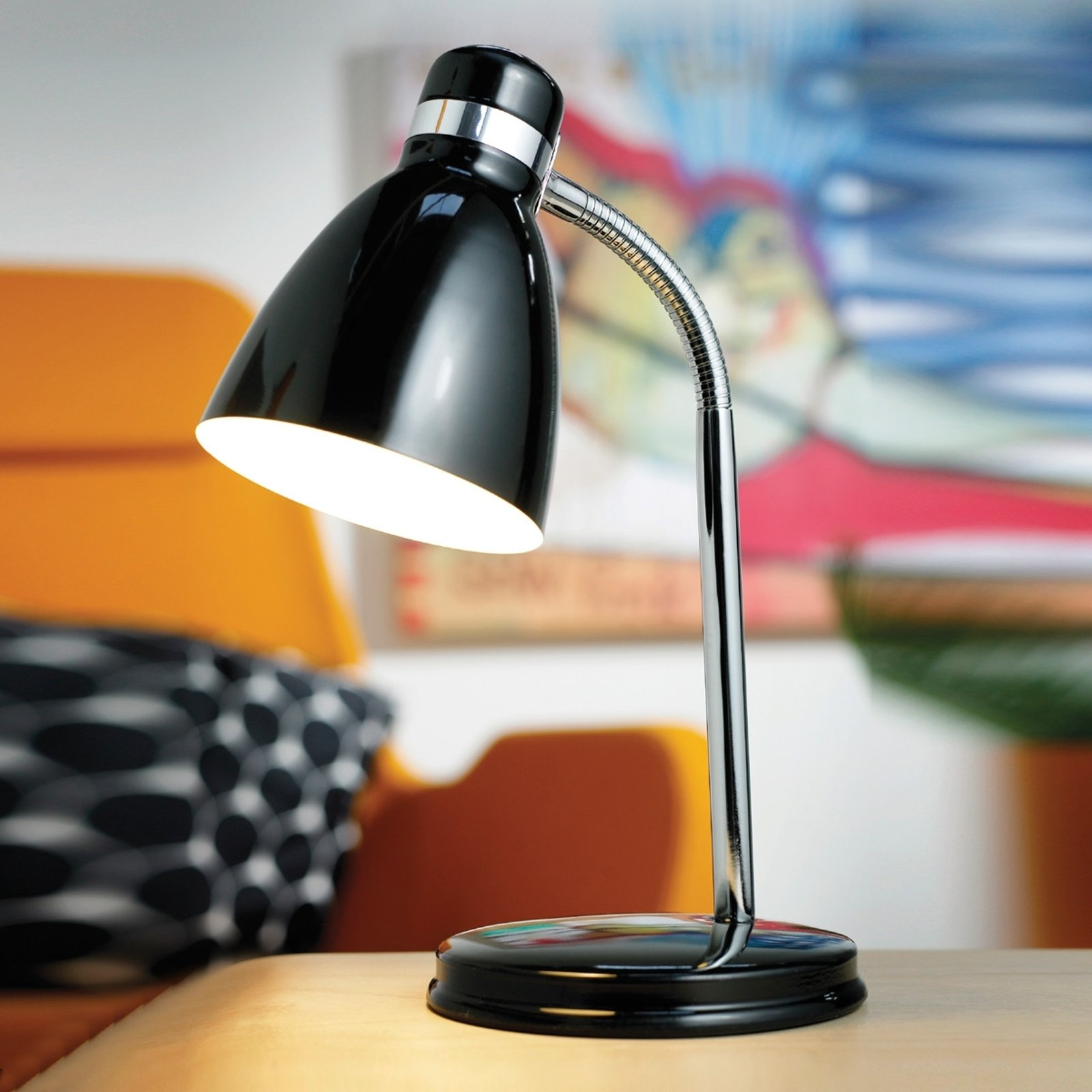 Moderne CYCLONE bordlampe i svart