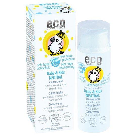 Eco Cosmetics Ekologisk Solkräm Neutral för barn SPF 50+, 50 ml