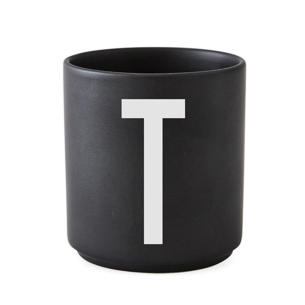 Design Letters - Personal Porcelain Cup T - Black