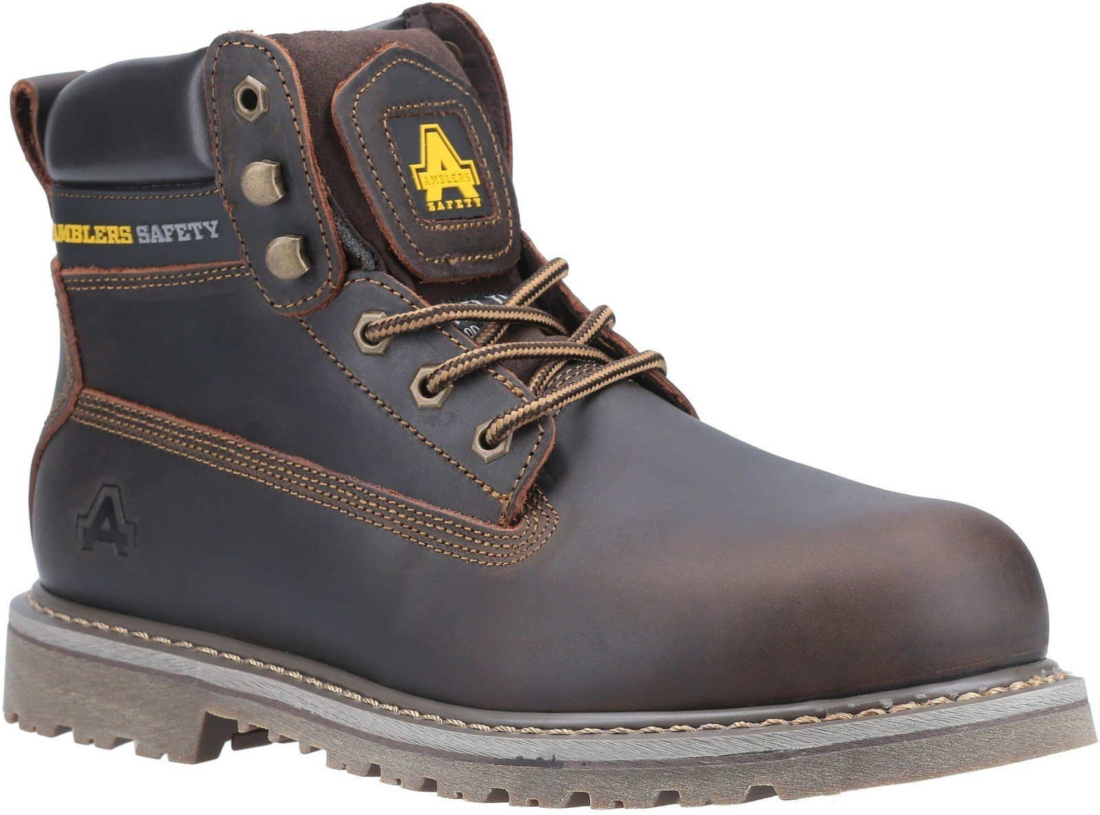 Amblers Unisex Safety Goodyear Welted Lace up Industrial Boot Brown 21250 - Brown 11