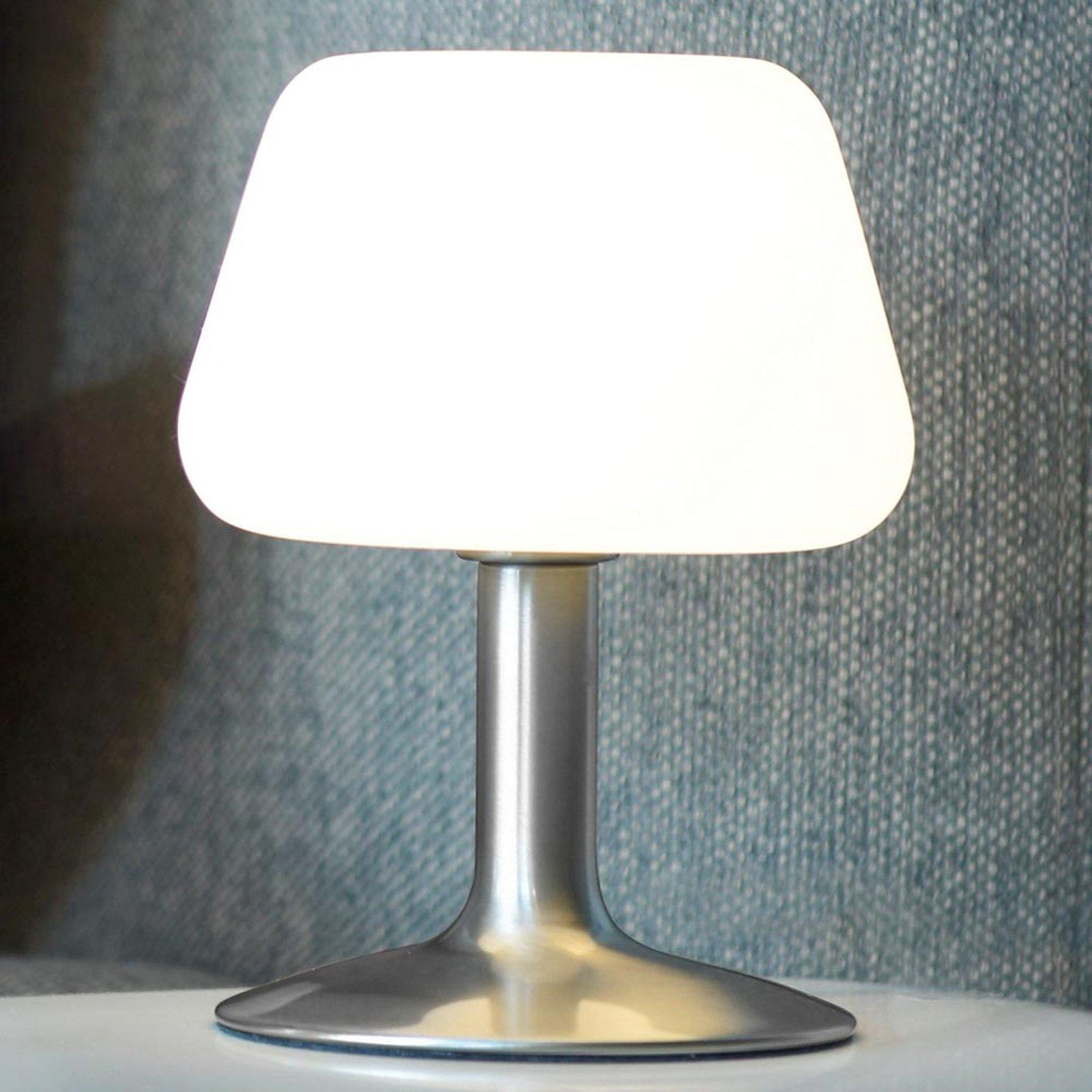 Liten LED-bordlampe Till med touchdimmer, stål