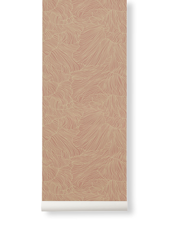 Coral Tapet Dusty Rose/Beige