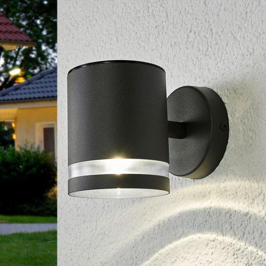 Harmaa aurinkokäyttöinen LED-ulkoseinävalo Melinda
