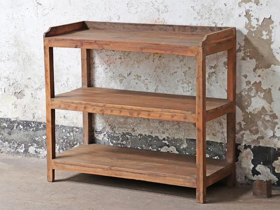 Vintage Wooden Shelf Brown