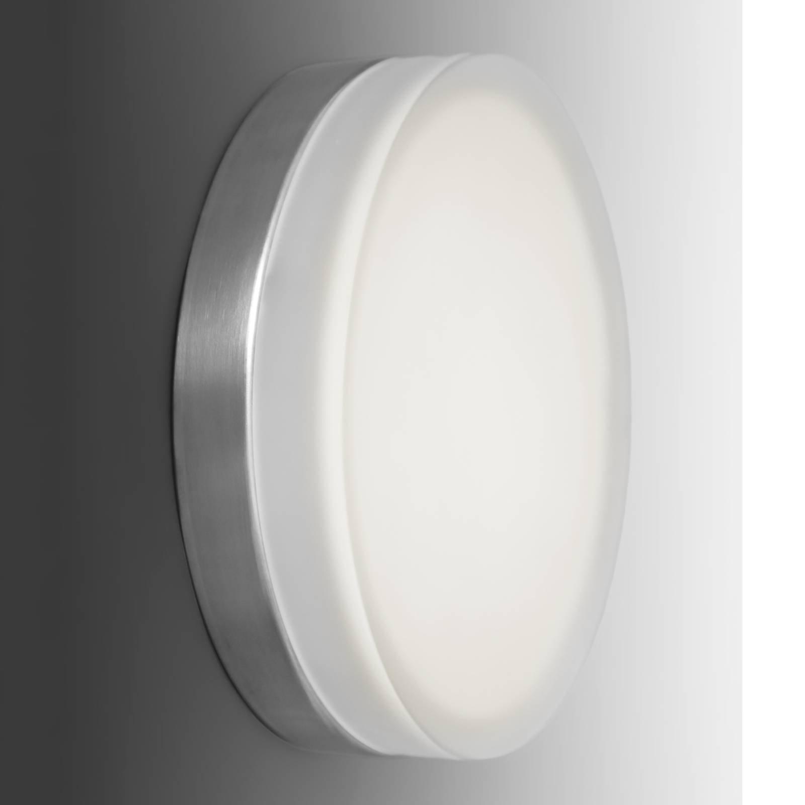 Enkel, rund LED-vegglampe Briq 01, 3 000 K