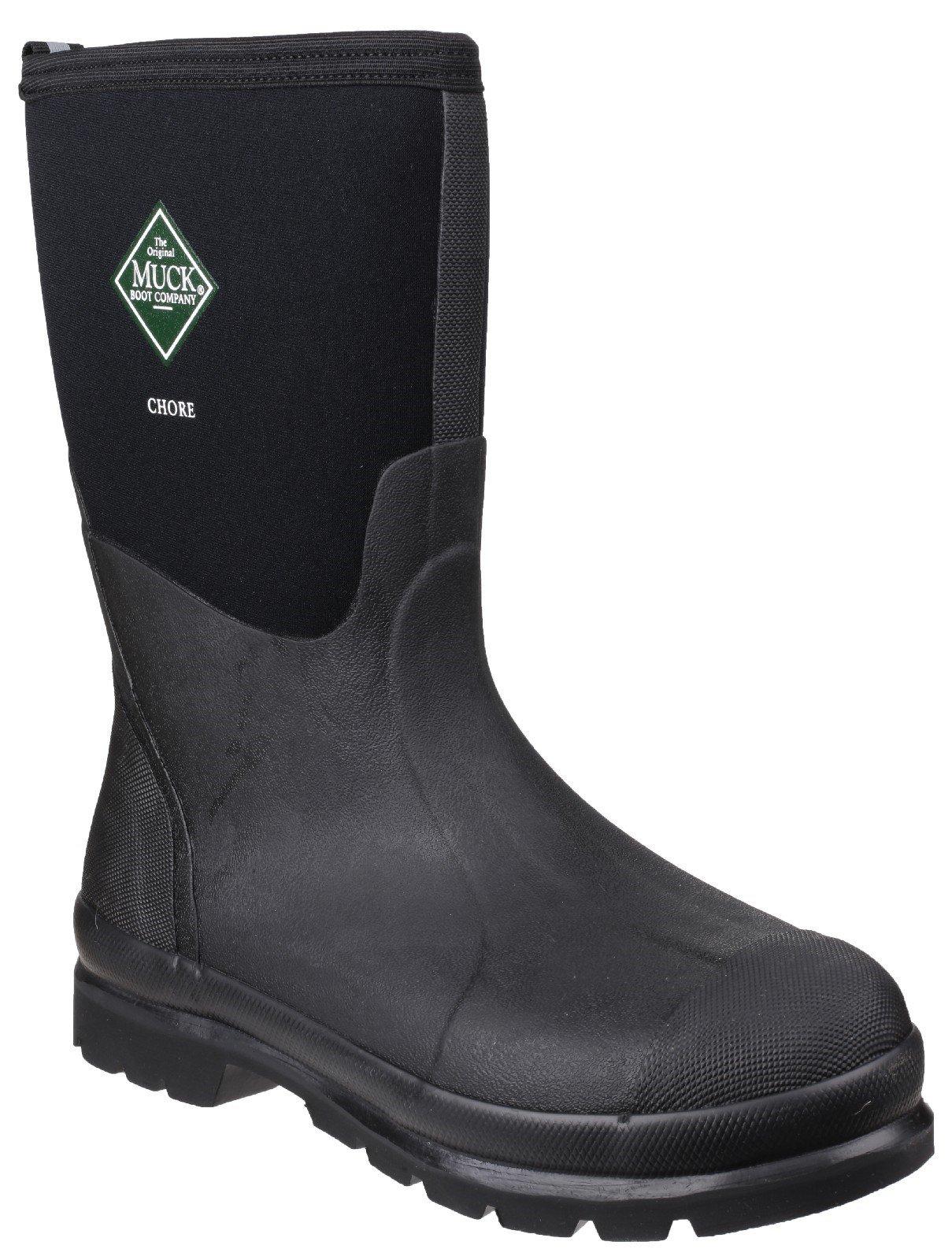 Muck Boots Unisex Chore Classic Mid Patterned Wellington Boot Black 23383 - Black 4