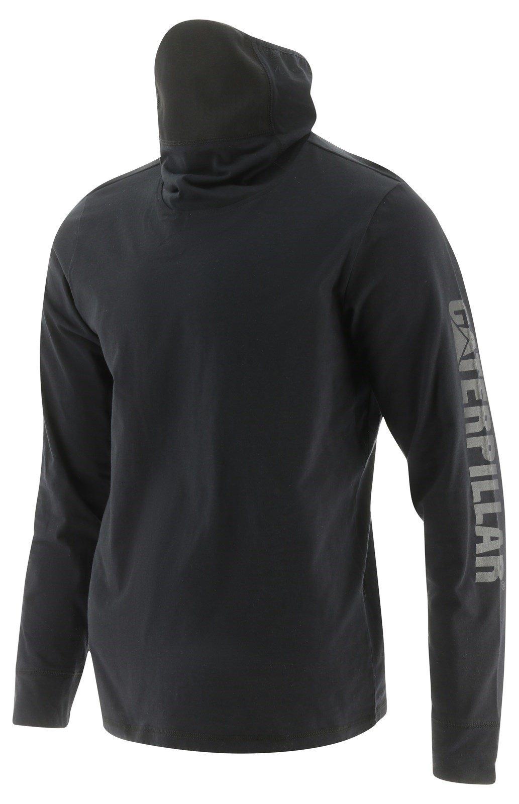 Caterpillar Unisex Viraloff LS Gaiter T-Shirts Black 32507 - Black Sml