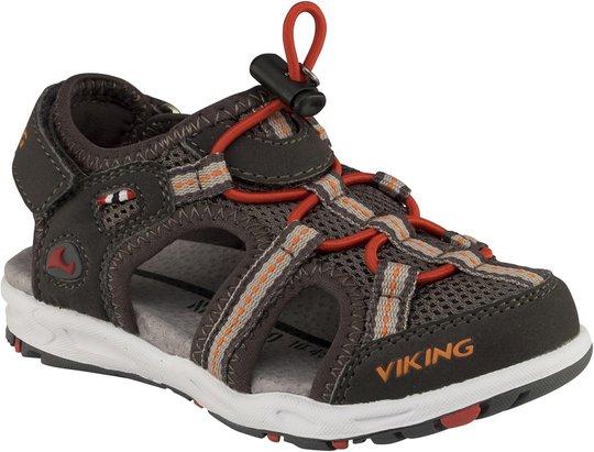 Viking Thrill Sandaler, Charcoal/Red 20