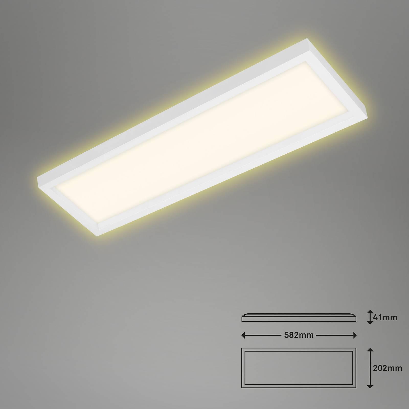 LED-kattovalaisin 7365, 58 x 20 cm, valkoinen