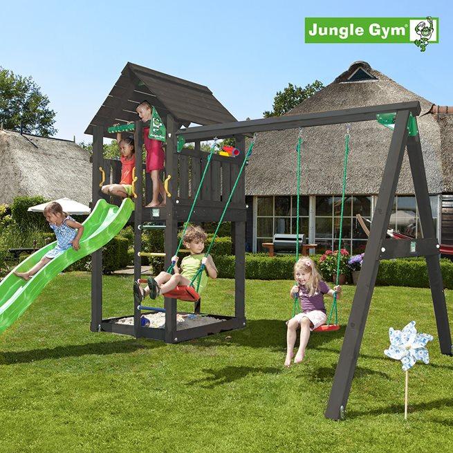 Jungle Gym Cabin lektorn komplett inkl. swing, Klätterställning