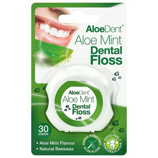AloeDent Aloe Mint Dental Floss, 30 m
