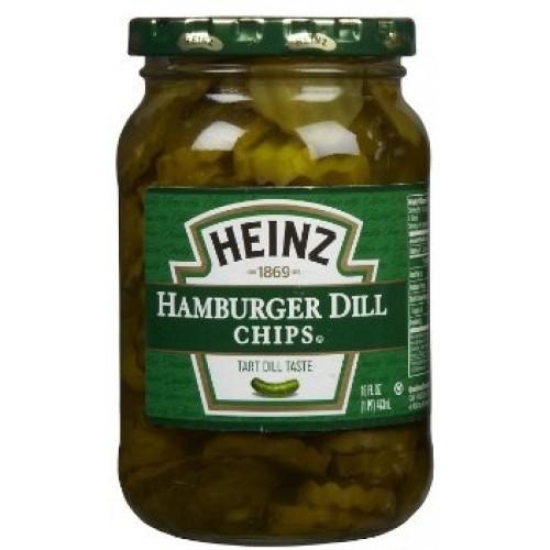 Heinz Sliced Hamburger Dill Chips 471ml