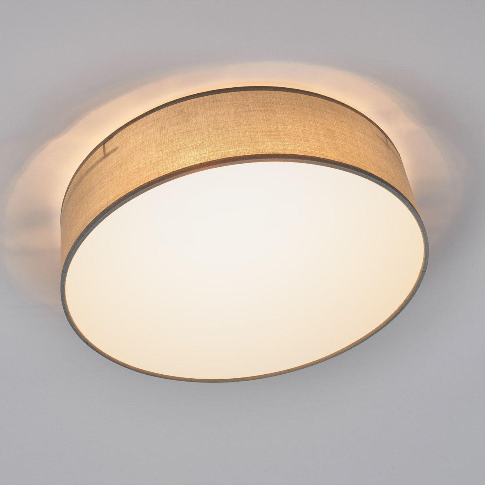 Grå taklampe Ceiling Dream i tekstil, 40 cm